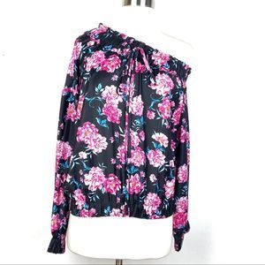New KENDALL + KYLIE blouse Small floral 1 shoulder